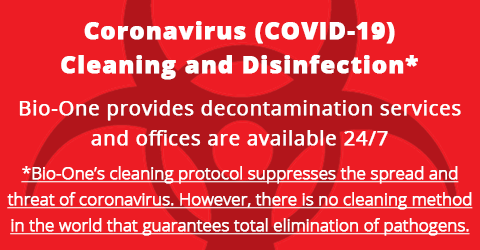 Coronavirus cleaning and disinfection